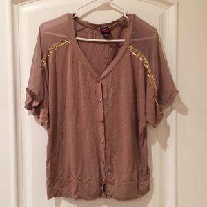 2b Bebe button down blouse